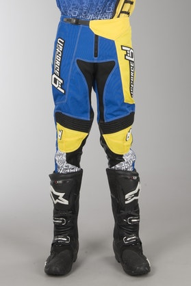 Upforce MX Pants Blue-Yellow