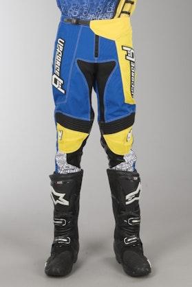Spodnie Cross Upforce Niebiesko-Żółte