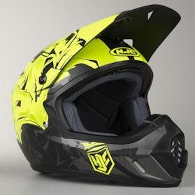 HJC CS-MAX II MC4HSF Helmet Graffed Black-Fluorescent Yellow