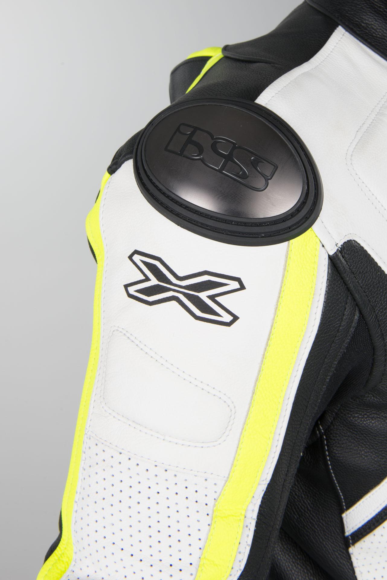 Kombinezon skórzany Długie IXS Thruxton Biały Czarny Żółty