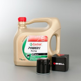 Castrol Power1 Racing Olie 4L + Oliefilter Snell
