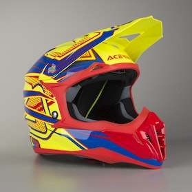 Acerbis Impact 3.0 Cross-Helmet Yellow-Blue