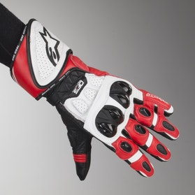 Rękawice Alpinestars GP Plus R Czarno-Biało-Czerwone