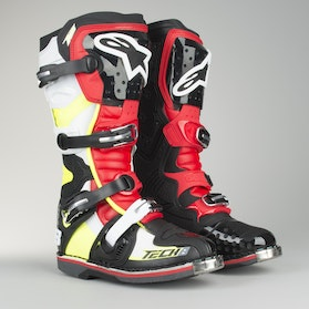 Alpinestars TECH 8 RS MX Boots Black-Red-Fluo-White