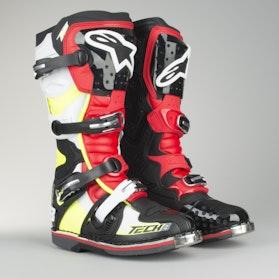 Cross støvler Alpinestars TECH 8 RS Sort-Rød-Fluo-Hvid