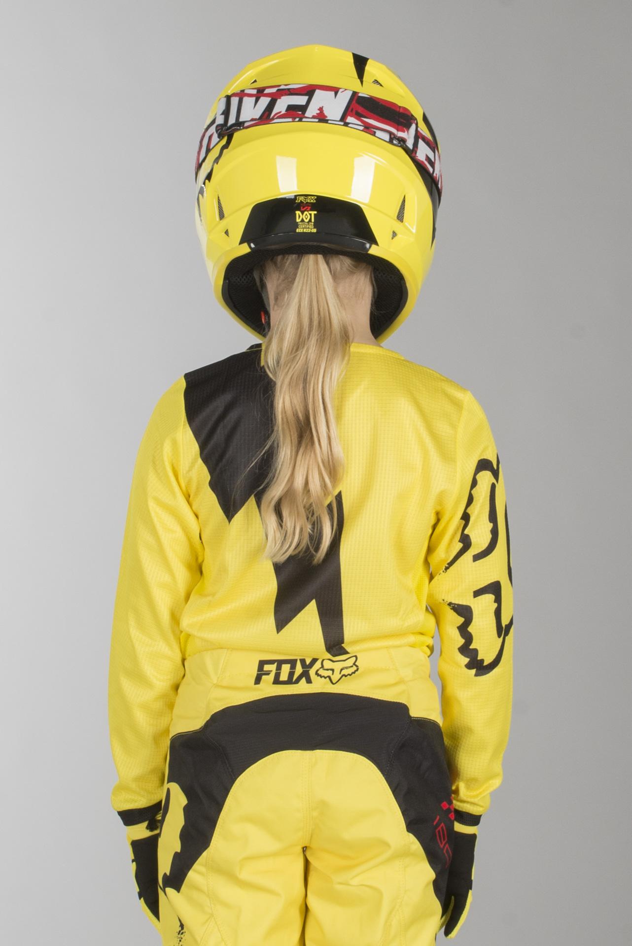 FOX 360 Preme Jugend Jersey S Schwarz//Gelb