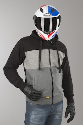 Booster Triple Aramid-Reinforced Hoodie Black-Grey