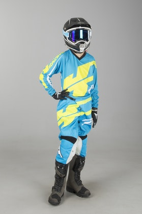 JT Racing Youth Flex Kit Hi-Lo Cyan-Neon Yellow