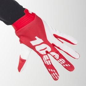 Rękawice Cross 100% iTrack Czerwono-Białe