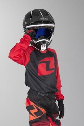 OneIndustries Atom Raglan Youth Motocross Jersey Black-Red