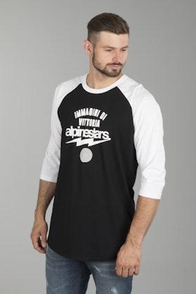 T-shirt Alpinestars Team Spirit Czarno-Biały