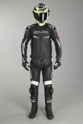 Kožená Kombinéza 2-Dílná Spidi Track Touring Černá-Bílá