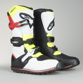 Alpinestars Tech T Trial Off-Road Boots White-Red-Fluo Yellow-Black