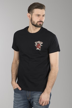 T-Shirt Lucky 13 Grease, Gas & Glory Czarny