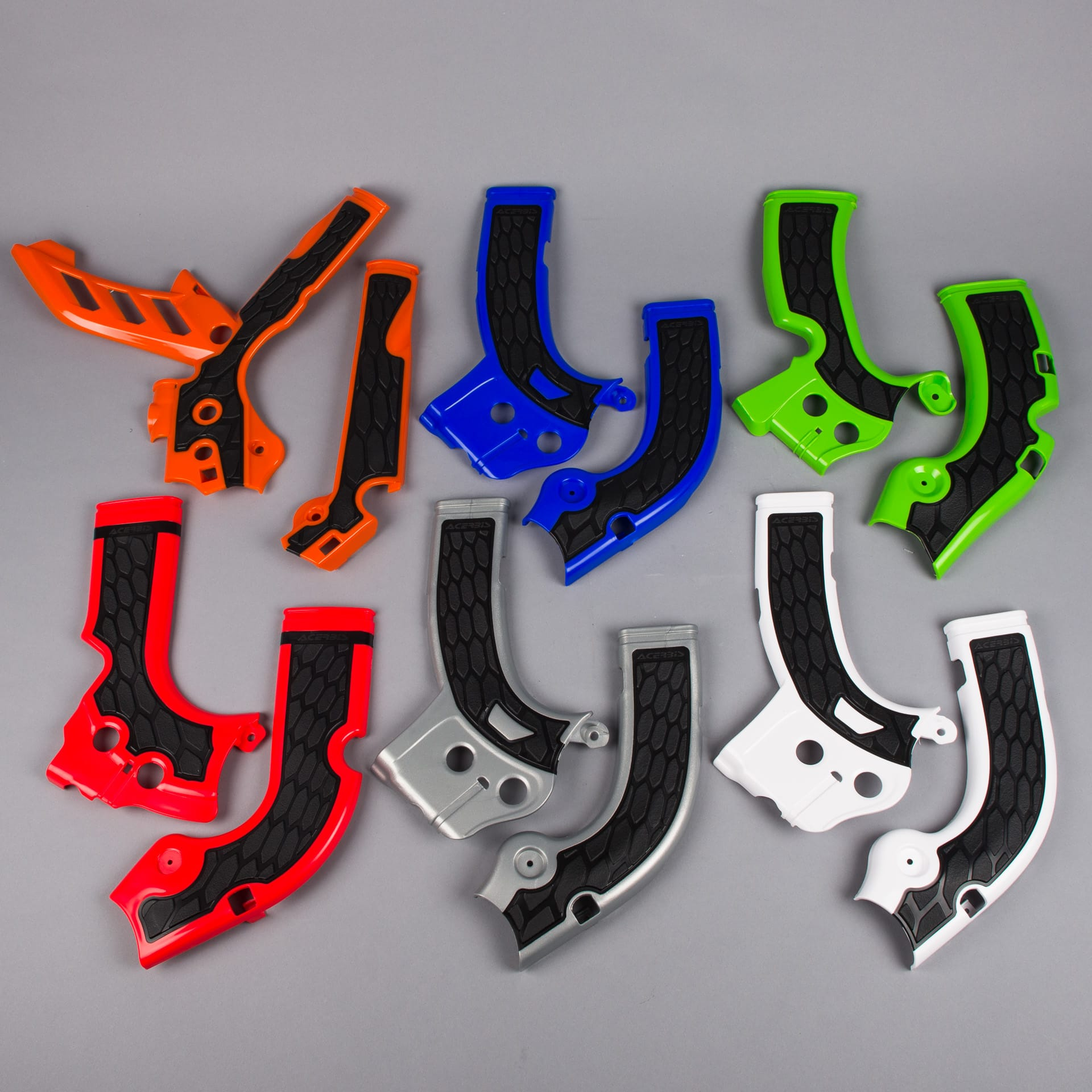 ACERBIS KTM 65 AND HUSQUAVANA 65 FRAME GUARDS NOW AVAILABLE IN 2 COLOURS.