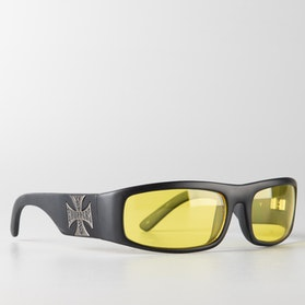 Okulary Przeciwsłoneczne West Coast Choppers Original Cross Jasne Żółto-Czarne