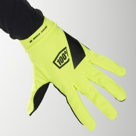 100% Ridecamp MX Gloves Yellow Fluo