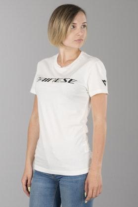 T-Shirt Dainese Damski Biało-Czarny