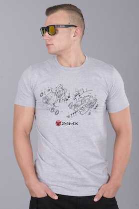 24MX Crankcase T-Shirt Grey