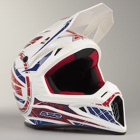 AXO Jump MX Helmet White, Blue & Red
