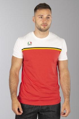 T-Shirt Dainese Fast-7 Biało-Czerwony