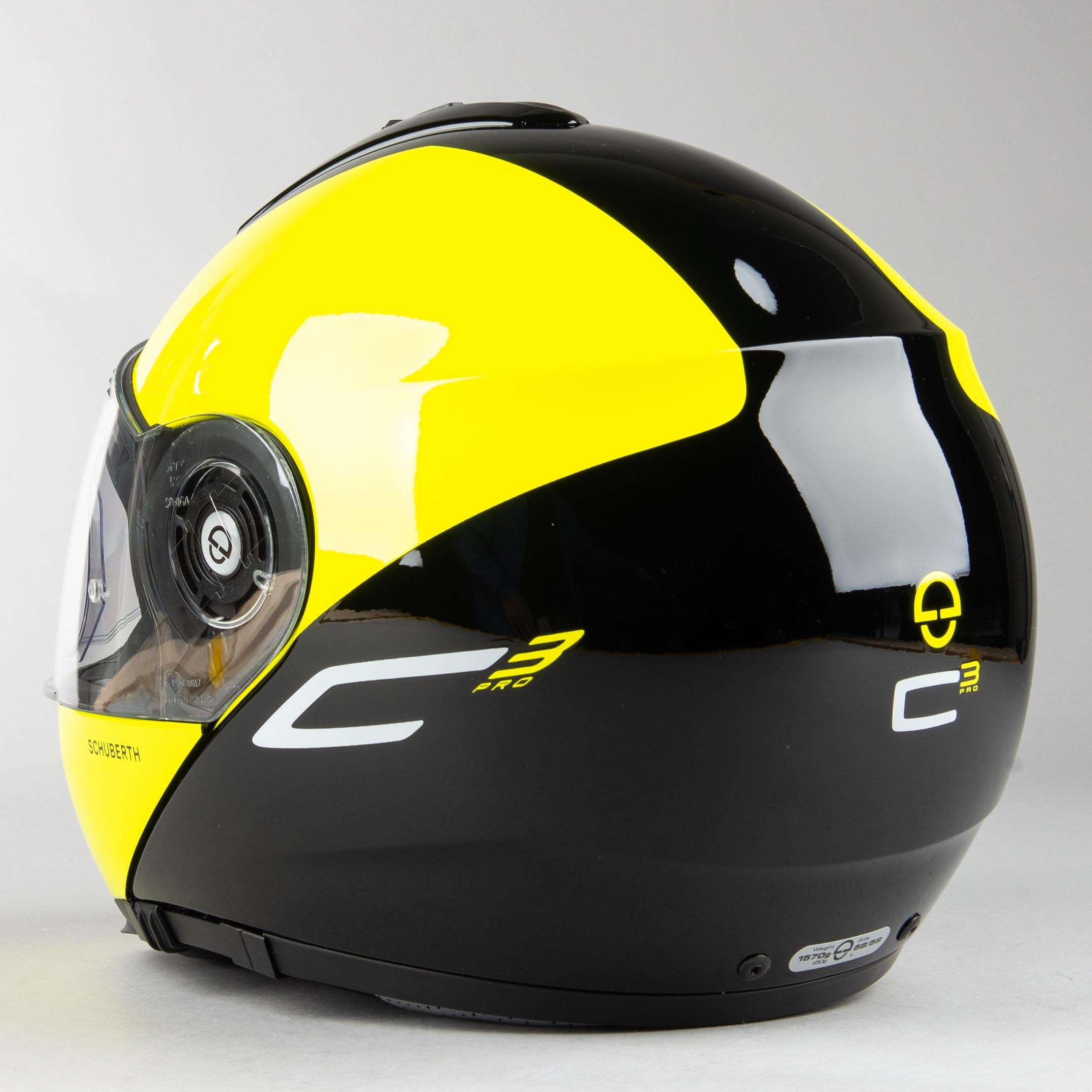 Casco Schuberth C3 PRO Split Amarillo Mate Modular