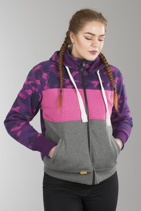 Booster Triple Aramid-reinforced Hoodie Lady Purple-Grey-Pink