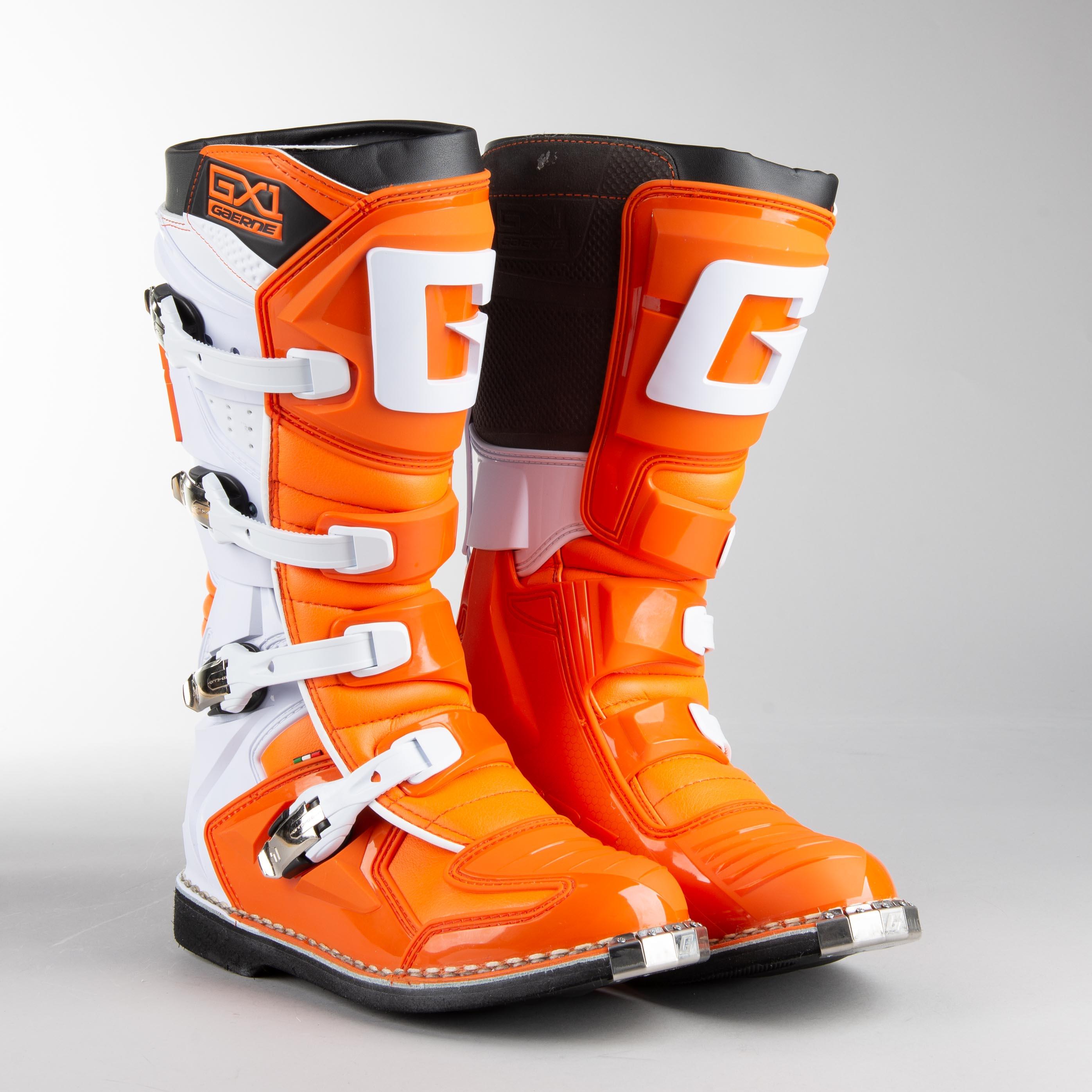 Gaerne Orange//White Sz 7 GX-1 Boots