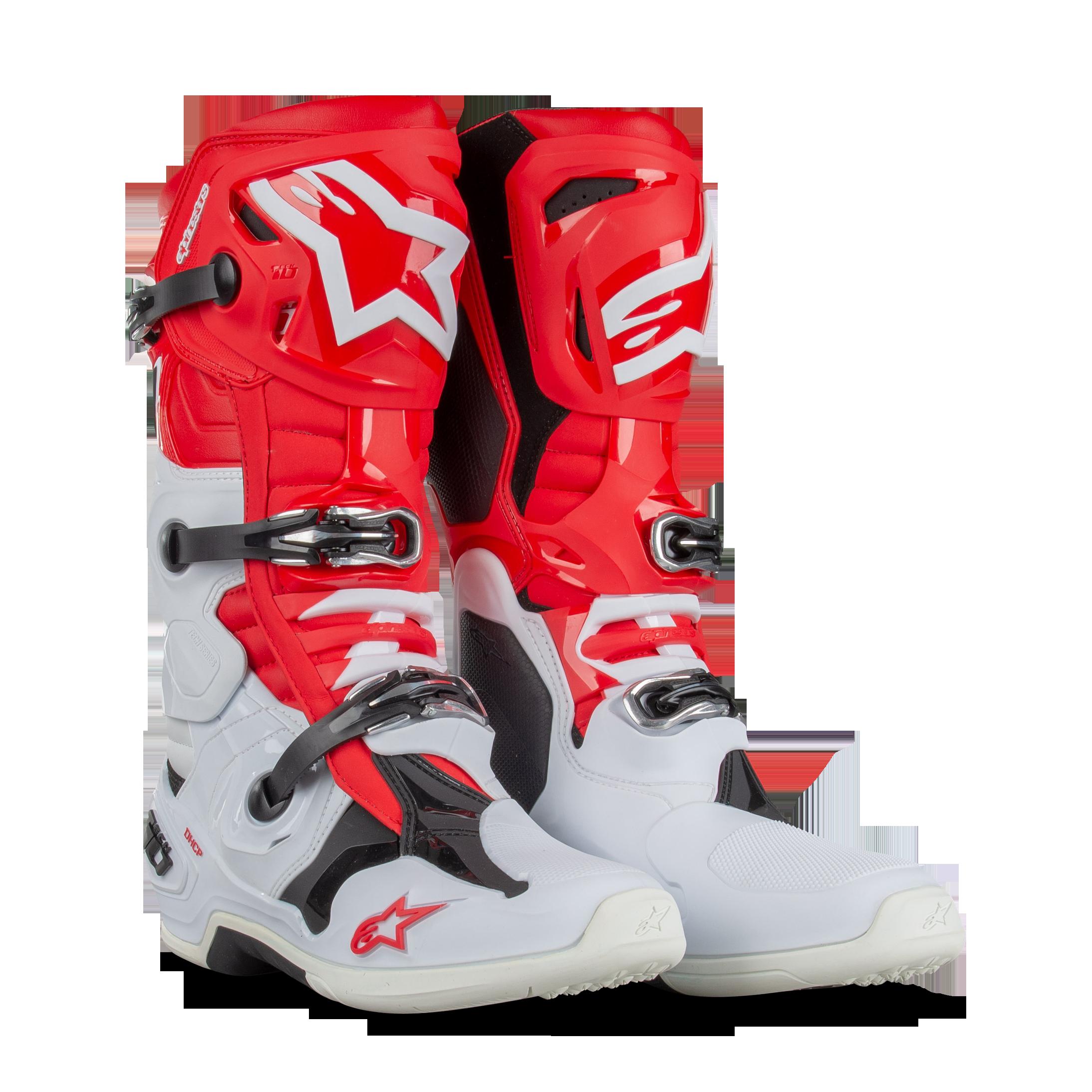 Alpinestars Tech 10 MX Boots Red-White