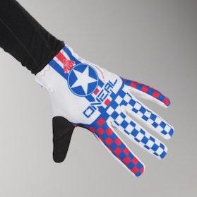 O'Neal Matrix Wingman Gloves White-Blue-Red