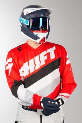 Bluza Cross Shift Whit3 Tarmac Czerwona MX 17