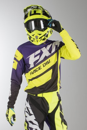 FXR Clutch Podium MX Clothes Purple-Black Fade-HiVis