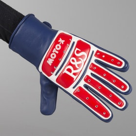 Rękawice Ride&Sons Moto X CE Niebiesko-Biało-Czerwone
