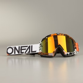 Crossové Brýle O'Neal B-10 Pixel Oranžová-Bílá