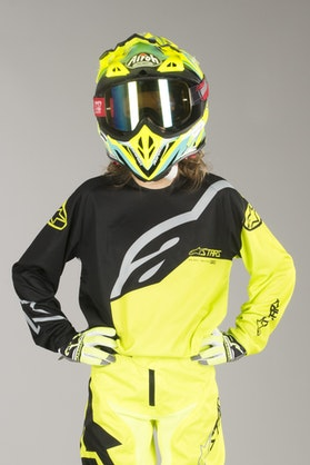 Bluza Cross Alpinestars Racer Factory Czarno-Neonowo-Żółta