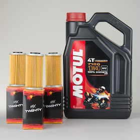 Motul 7100 4T Oil Fully Synthetic 4L + 3-Pack twenty Oil filters.