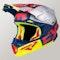 Kask Cross FXR Blade 2.0 Carbon Evo Granatowo-Czerwono-Neonowo-Srebrny