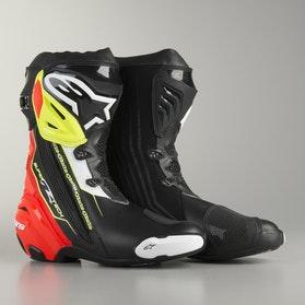 Alpinestars Supertech R MC-Boots - Black-Red-Flourescent Yellow