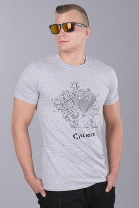 T-Shirt XLMOTO X-Plode Szary