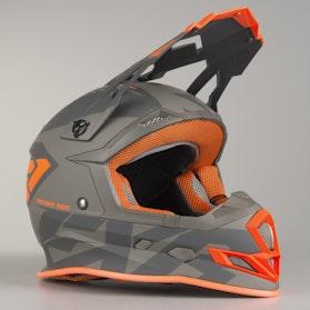 Motokrosová Helma FXR Boost CX Prime Šedá-Oranžová