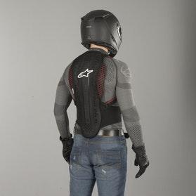 Alpinestars Nucleon KR-2 rygbeskytter, sort/rød