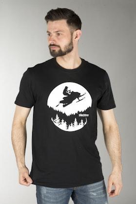 Tričko Sledstore Moon Sled Černé