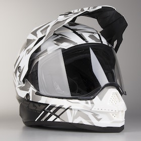 FLY Trekker Adventure Helmet White-Grey