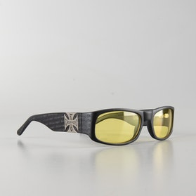 West Coast Choppers Gangscript Yellow Sunglasses Black