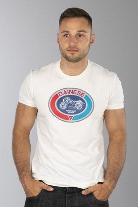 T-Shirt Dainese Moto 72 Biały
