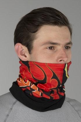 Kołnierz Termoaktywny Booster Happy + Polarowy Pack Red Flames