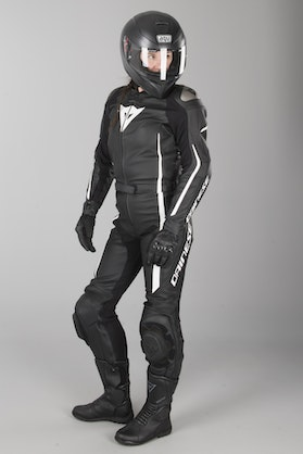 Dainese Assen 2-Piece Women's Leathers Black-White