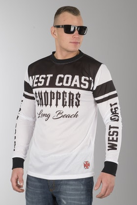 Bluzka West Coast Choppers OG Mesh Biało-Czarna