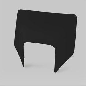 Acerbis Enduro Number Plate Black