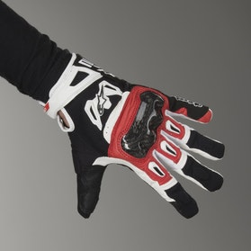 Rękawice motocyklowe Alpinestars SMX-2 Air Carbon Czarno-Czerwono-Białe